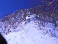 阿弥陀岳北稜 ジャンクションピークを見上げる